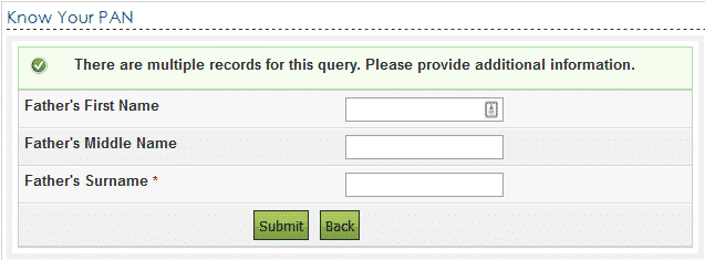 know your pan multiple queries