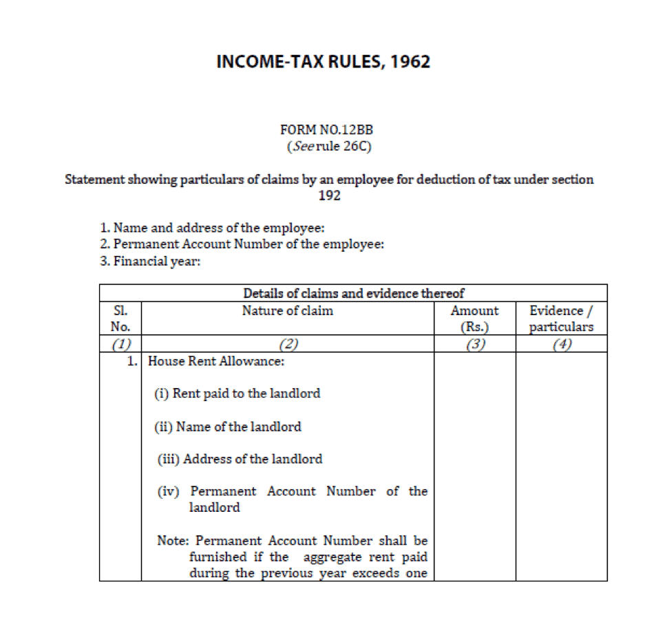a very simple guide to form 12bb