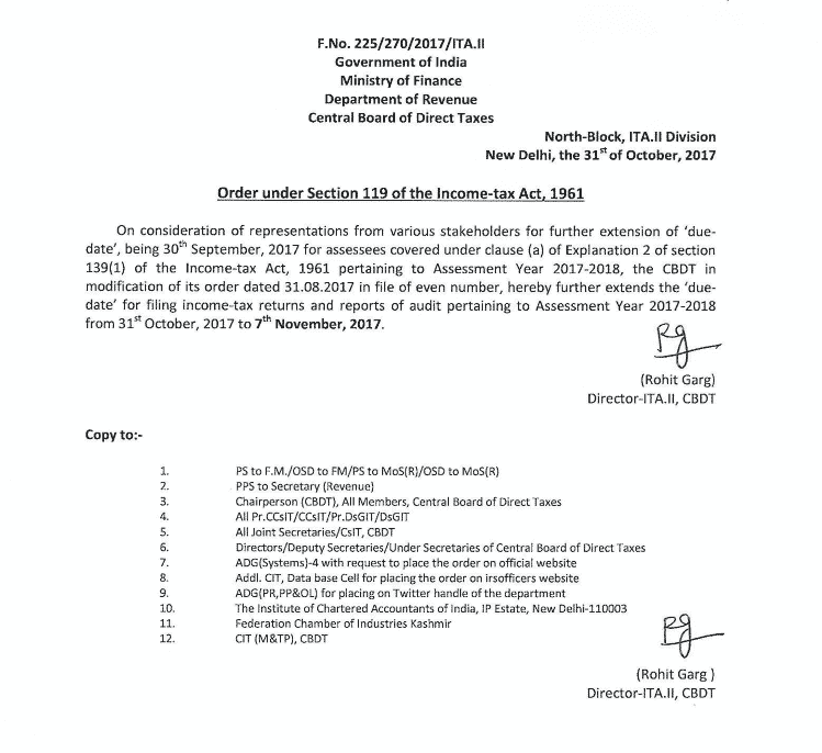audit date extended