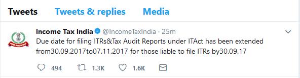 due date of audit 2017-18 tweet extended