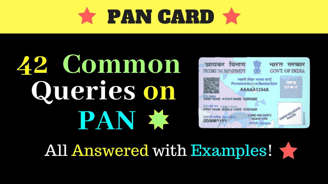 pan card queries