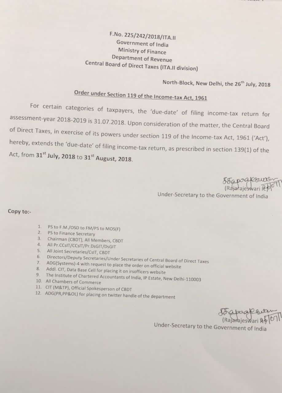 due date of income tax return extended