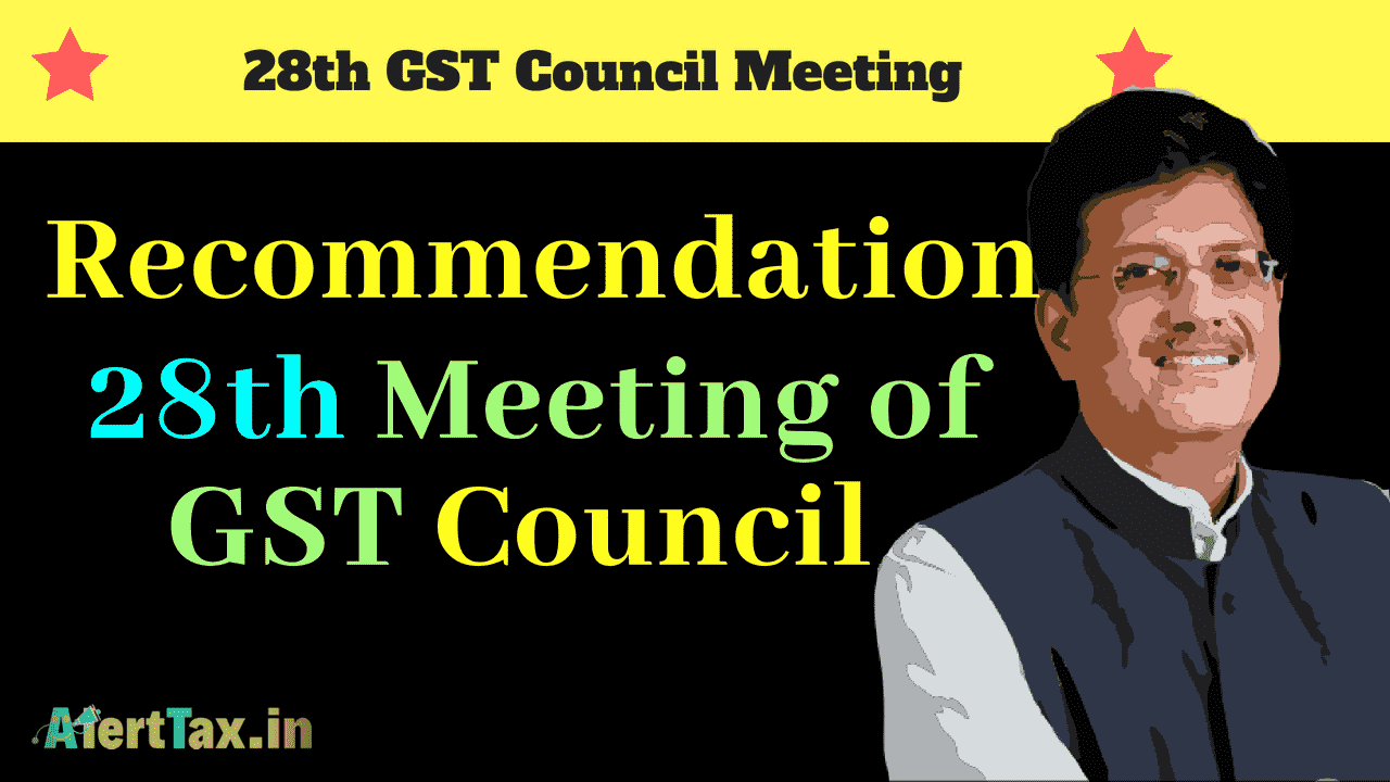 Recommendation of 28th Meeting of GST council-min