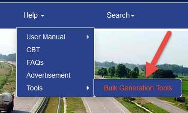 bulk generation tool