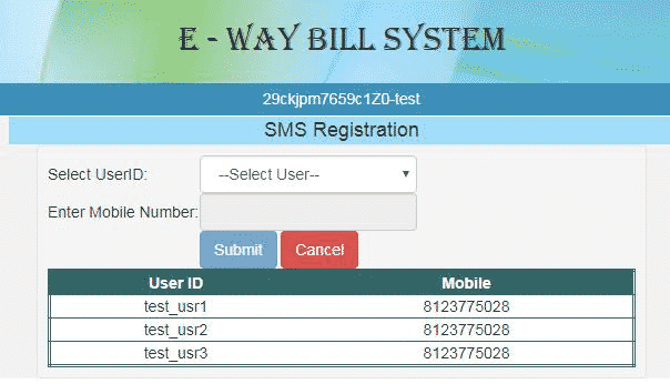 generate eway bill sms