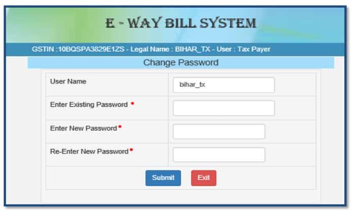 sub user change password