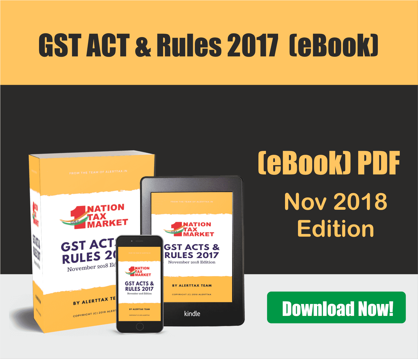 gst act & rules ebook